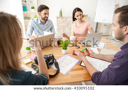 This is very effective teamwork - stock photo