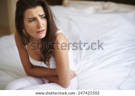 This pain is so exhaustive - stock photo