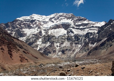 this picture was made in argentina mt aconcagua