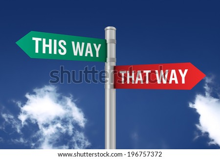this that way - stock photo