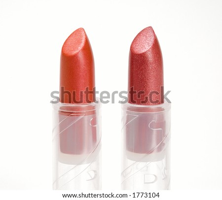Tho colored pre-series lipsticks in a transparent technological packing