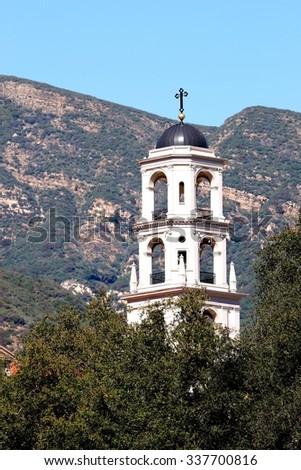 Thomas Aquinas Chapel at the collage in Ojai / Santa Paula. - stock photo