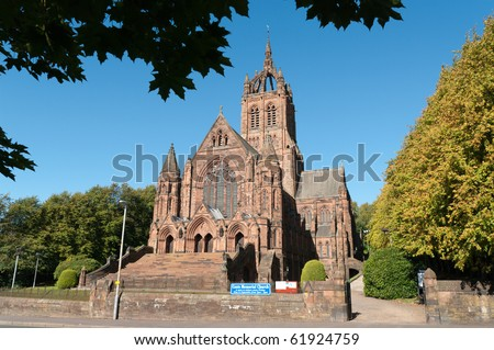 Thomas Coats Memorial Church in Paisley, Scotland. Funded by a textile industrialist. Generations of stonemasons served their apprenticeships on its construction. - stock photo