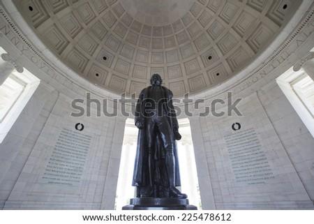 Thomas Jefferson Memorial in Washington, America.  - stock photo