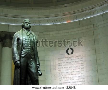 Thomas Jefferson Memorial in Washington D.C. - stock photo
