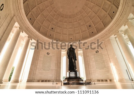 Thomas Jefferson Memorial in Washington DC United States - stock photo