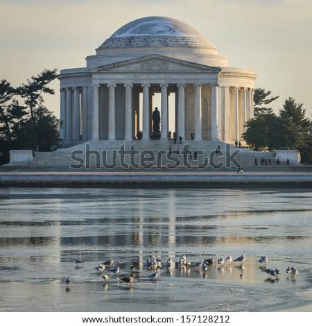 Thomas Jefferson Memorial in Washington DC, United States - stock photo