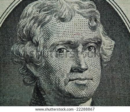 Thomas Jefferson $2 Portrait 2 - stock photo