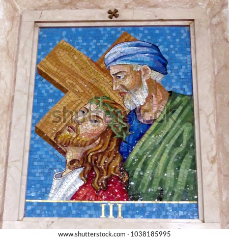 thornhill canada march 2 2018 3rd station of the cross jesus - Santa Claus And Jesus 2