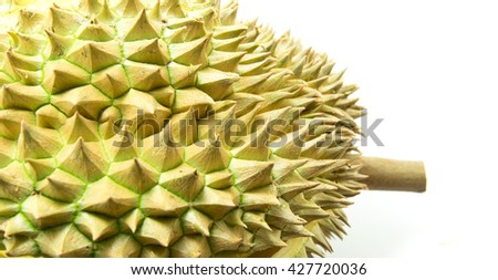 Thorns of durian, Tropical fruit - stock photo