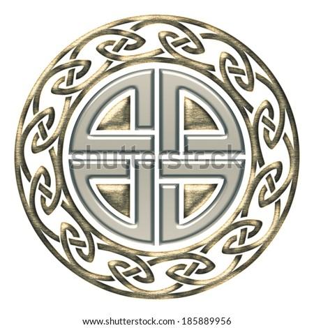 Thors Shield Knot - Celtic Protection Symbol - stock photo