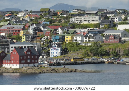 Thorshavn, Faroe Islands. - stock photo