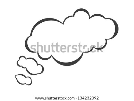 Thought bubble - stock photo