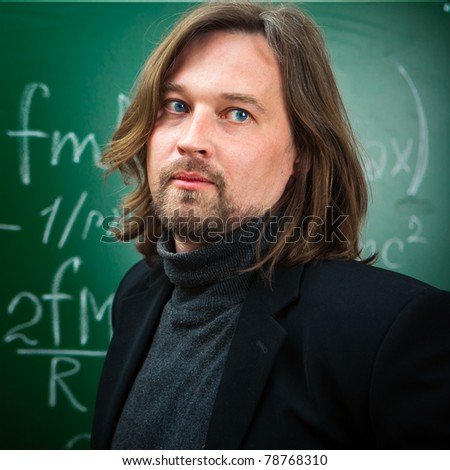 thoughtful professor - stock photo