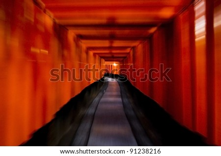 Thousands of Torii, Fushimi Inari Taisha Shrine, Kyoto, Japan