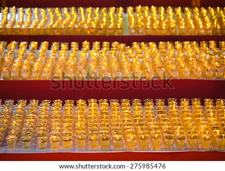 Thousands of wesak lanterns at Buddhist Maha Vihara Temple, Kuala Lumpur Malaysia during Wesak day. - stock photo