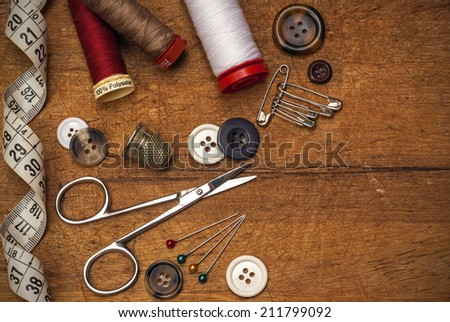 thread and sewing - stock photo
