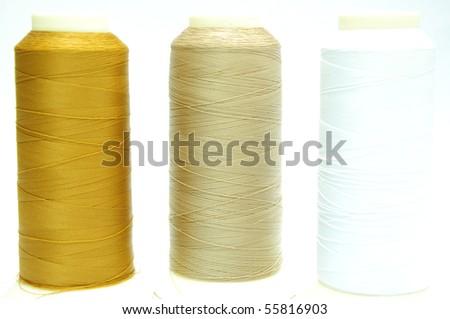 Thread 3 color - stock photo
