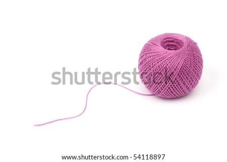 thread isolated - stock photo