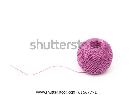thread isolated on white - stock photo