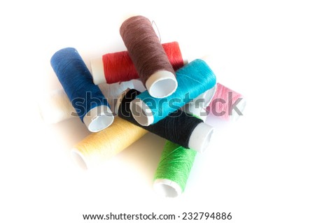 Threds with different colors - stock photo
