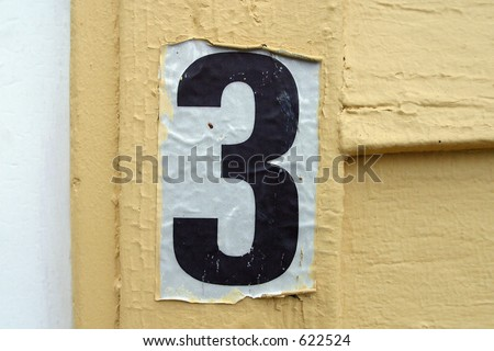 three - stock photo
