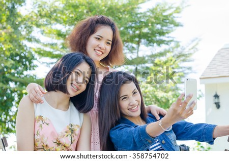 Three asian women