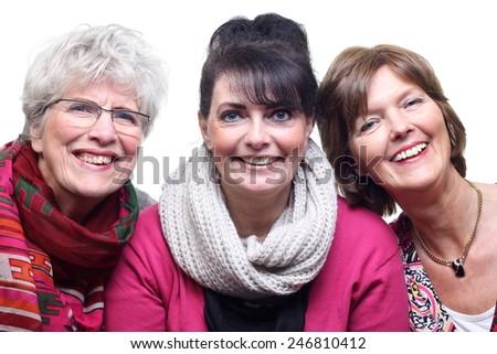 Three beautiful women - stock photo