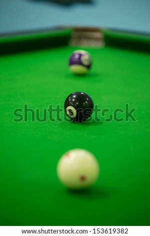 Three Billiards ball