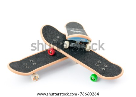 three boards on a white background - stock photo