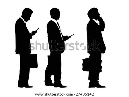 three businessmen - stock photo