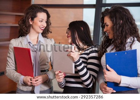 Three Businesswomen Meeting in office