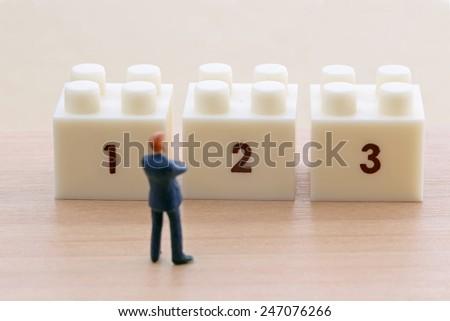 Three Choices - stock photo
