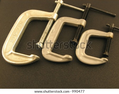three clamps - stock photo