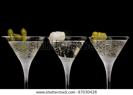 three cocktails in a row, gin/martini/vodka !