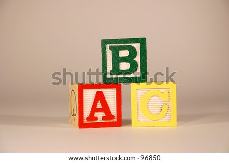 Three Cubes with letter ABC