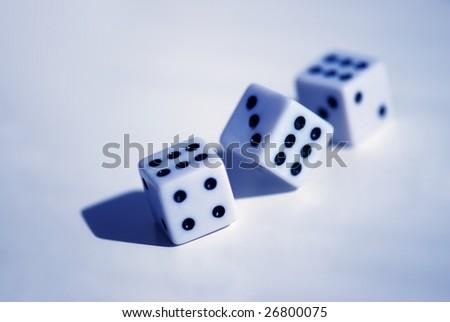three dices - stock photo
