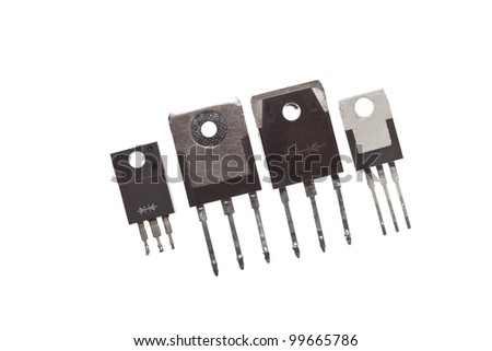 Three different electronic housings. Can be used to house all sorts of electronic devices. - stock photo