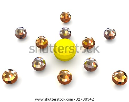 Three-dimensional graphic image. Sphere. 3d
