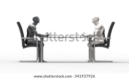 Three dimensional human deal. Ready to close. interview the head office. bribery. a new proposal for the development of business. - stock photo