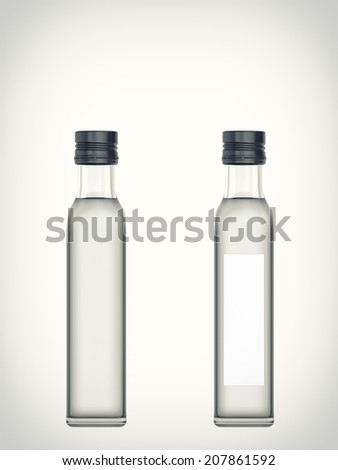 Three-dimensional illustration of a bottle with water isolated on a white background - stock photo