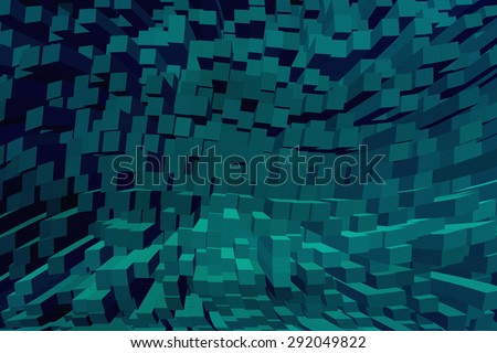 Three-dimensional image Abstract - stock photo