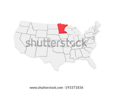 Minnesota Map Banque DImage Libre De Droit Photos Vecteurs Et - Usa map minnesota