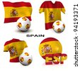 Three dimensional render featuring one of the participating nations in Europe biggest football competition - stock photo