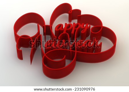 Three dimensional text design of happy new year.  - stock photo