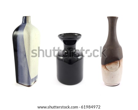Three Empty Vases Stock Photo Royalty Free 61984972 Shutterstock