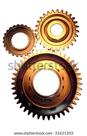 Three gears - stock photo