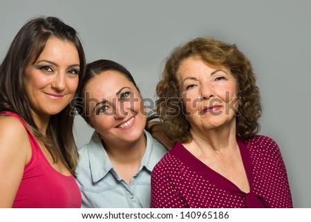 Three generations of woman - stock photo