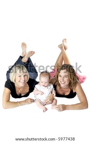 Three Gorgeous Generations of Women - stock photo