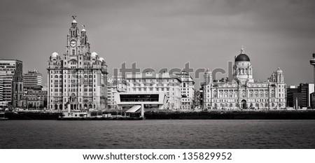 Three Graces of Liverpool - stock photo